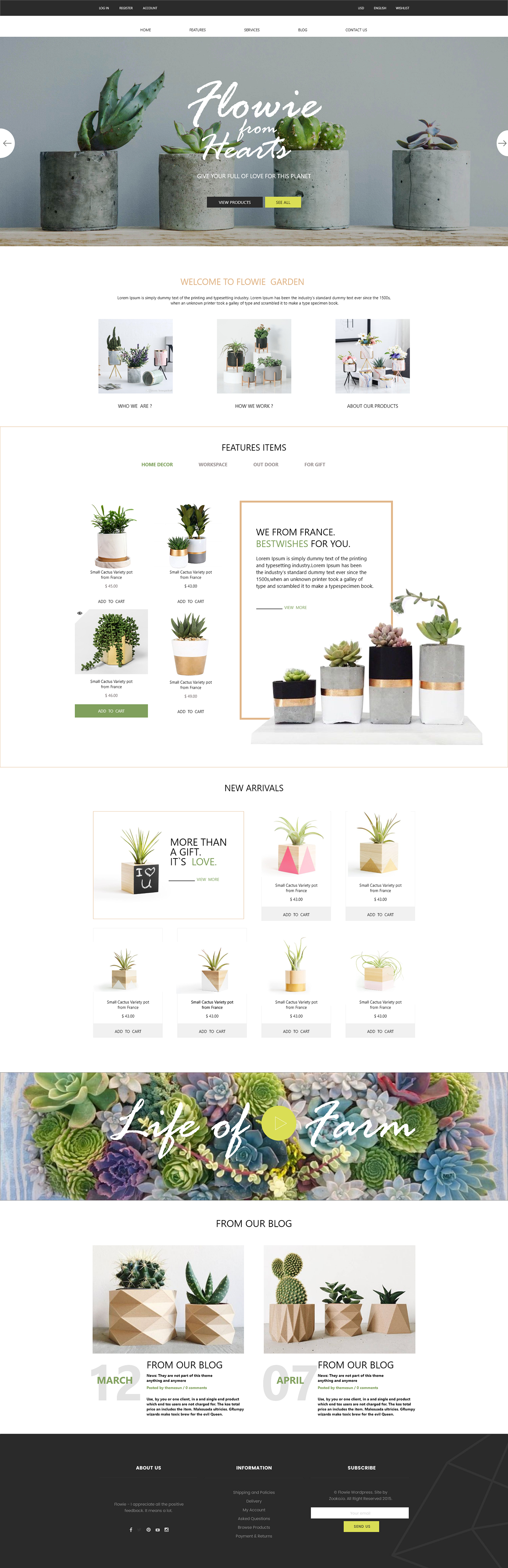 Home Decor website design